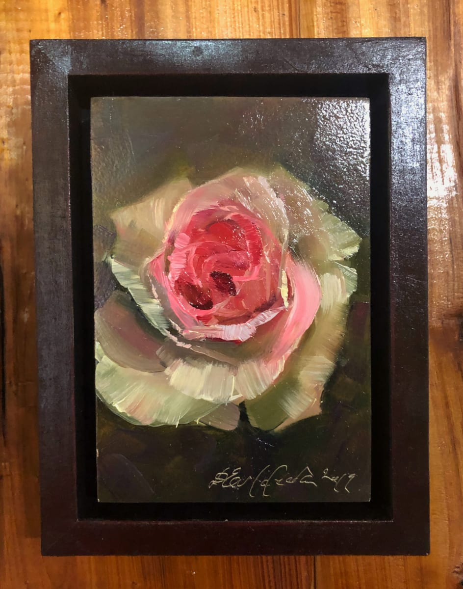 Miniature with rose by Deana Evstefeeva