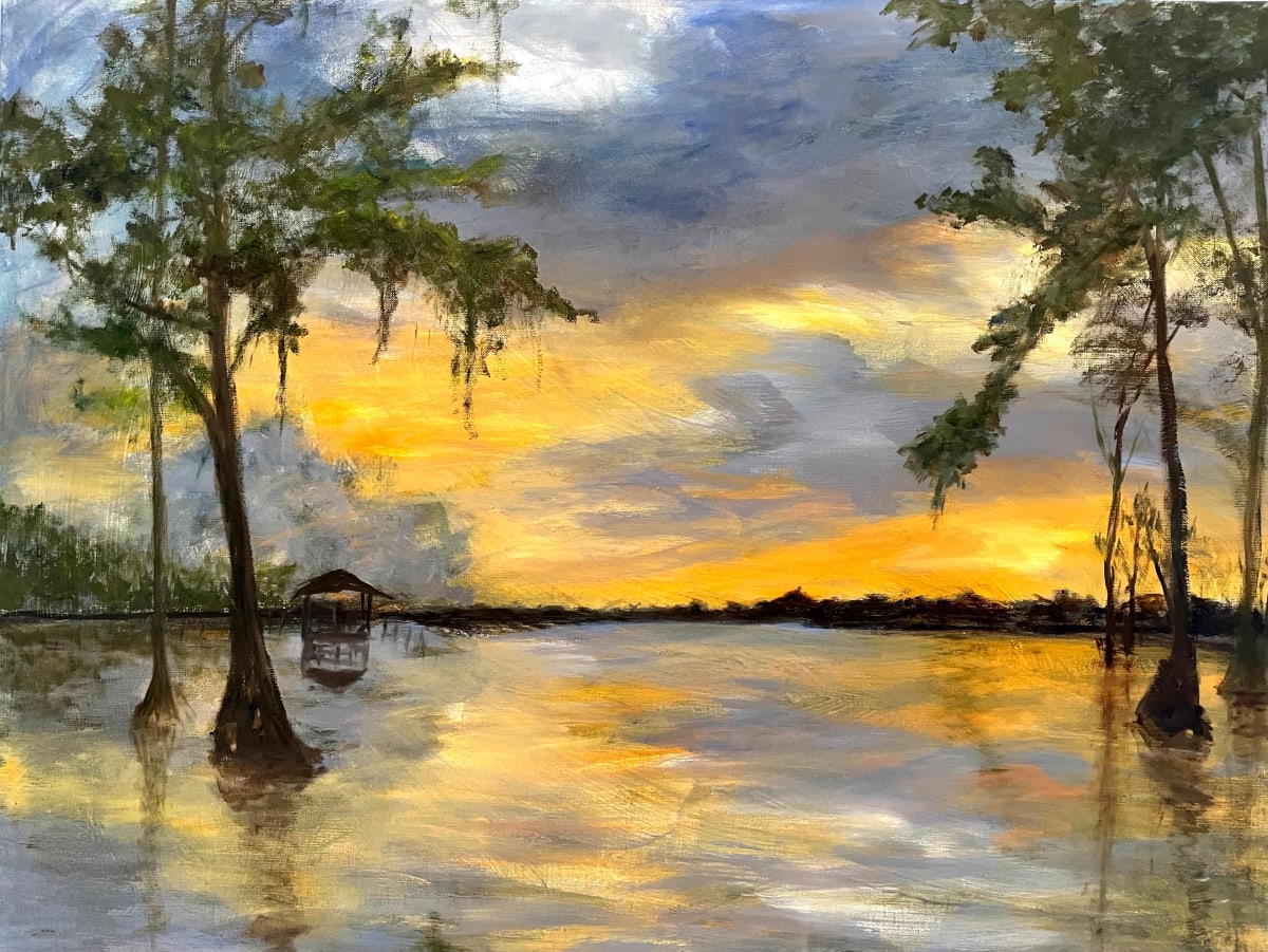 Lake Arthur at Charlie's Place' by Pat Love