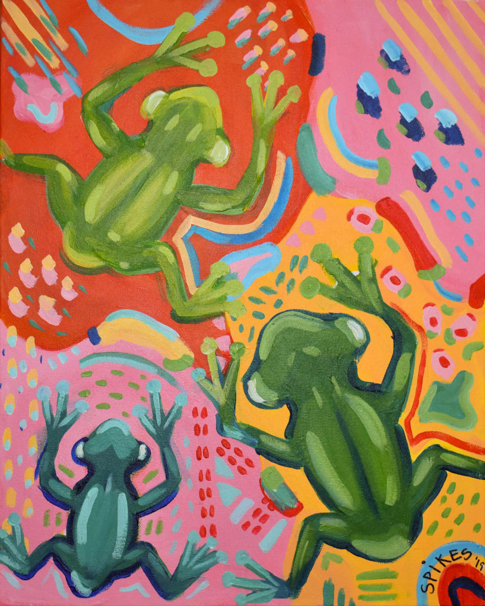 Funky Frogs by Emily Spikes
