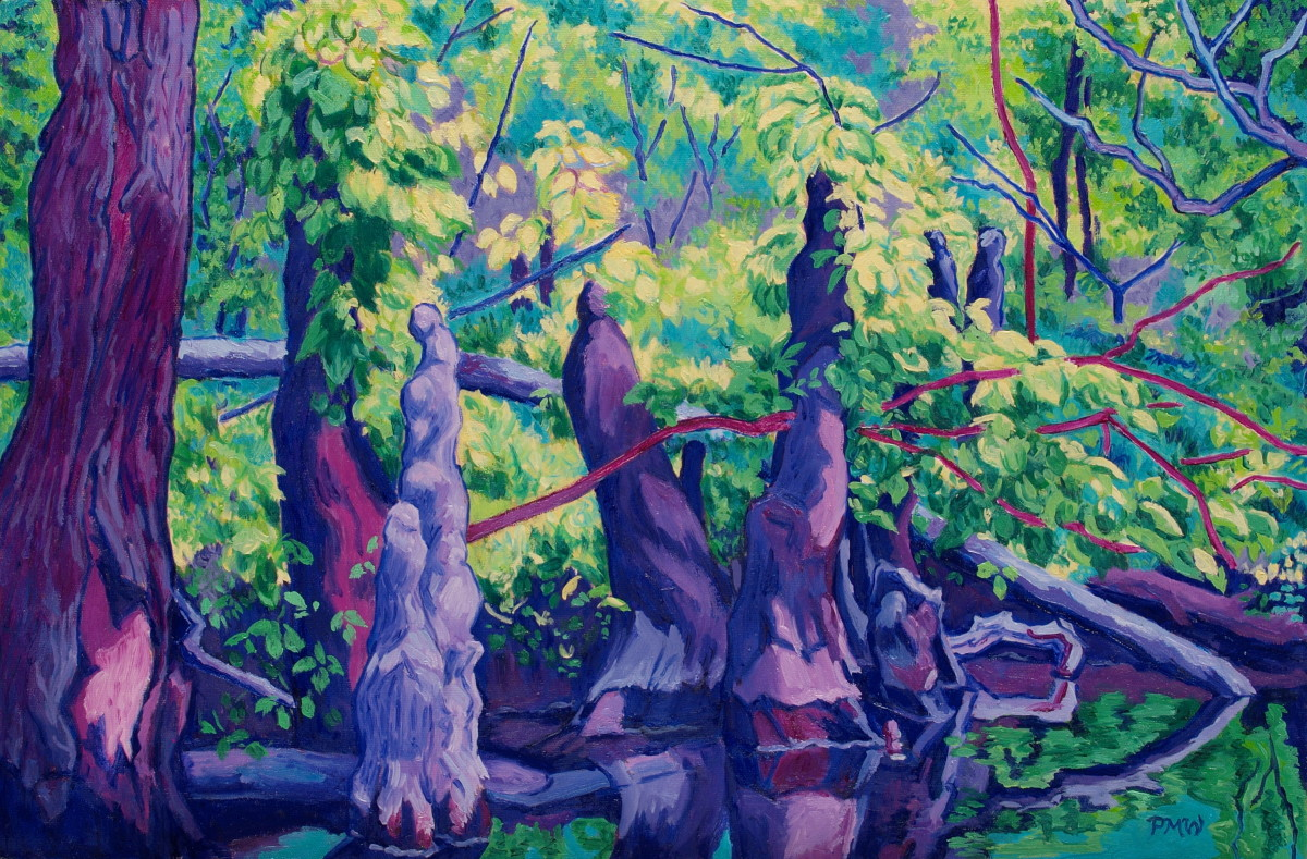 Cypress Knees by Peggy Walters