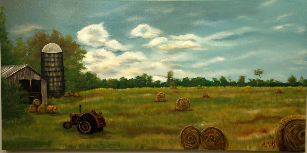 Hay Field in the Country by Anne Matt