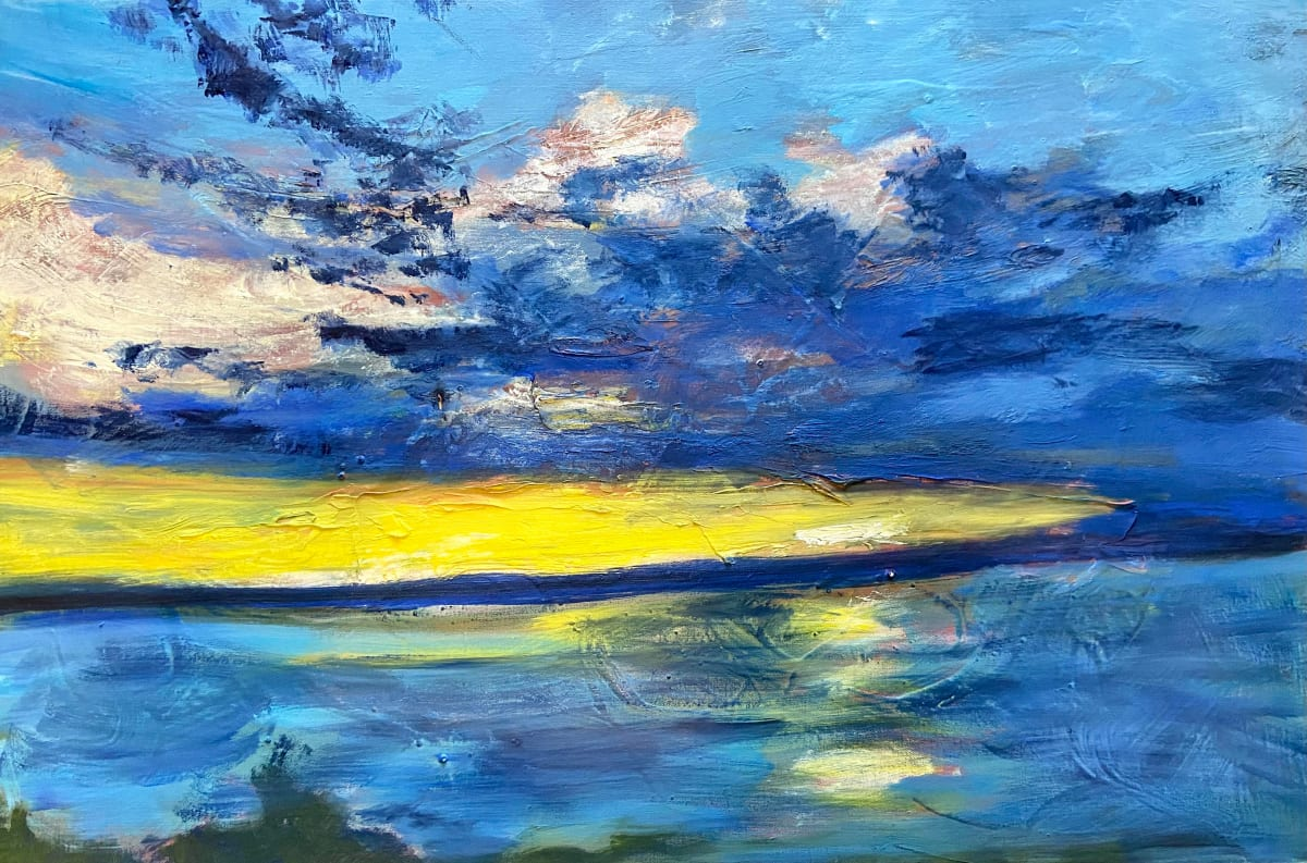 Blue Sky, Yellow Sunset by Pat Love