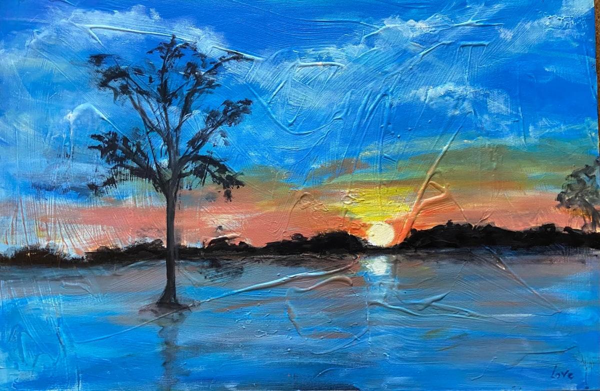 Textured Swamp Scene by Pat Love