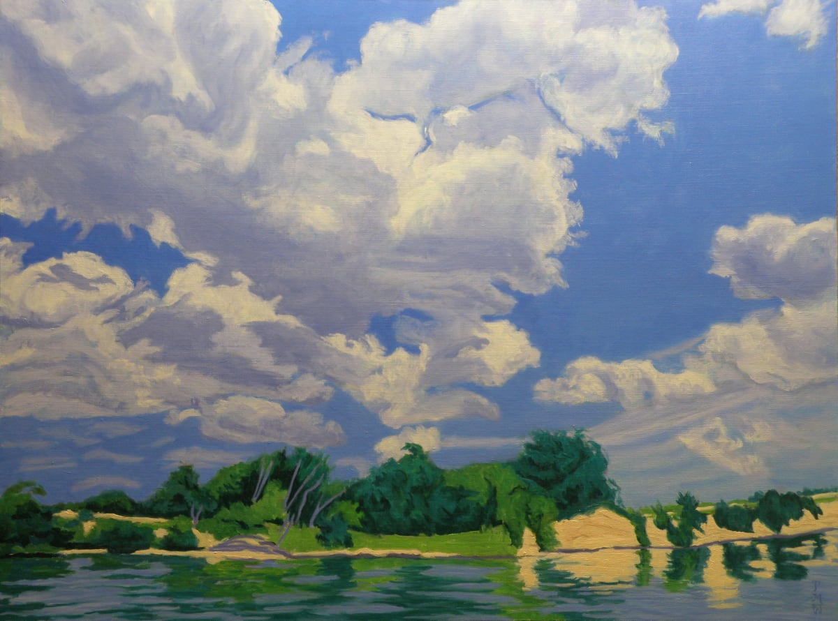 Cloud Over Curving Cliff by Peggy Walters