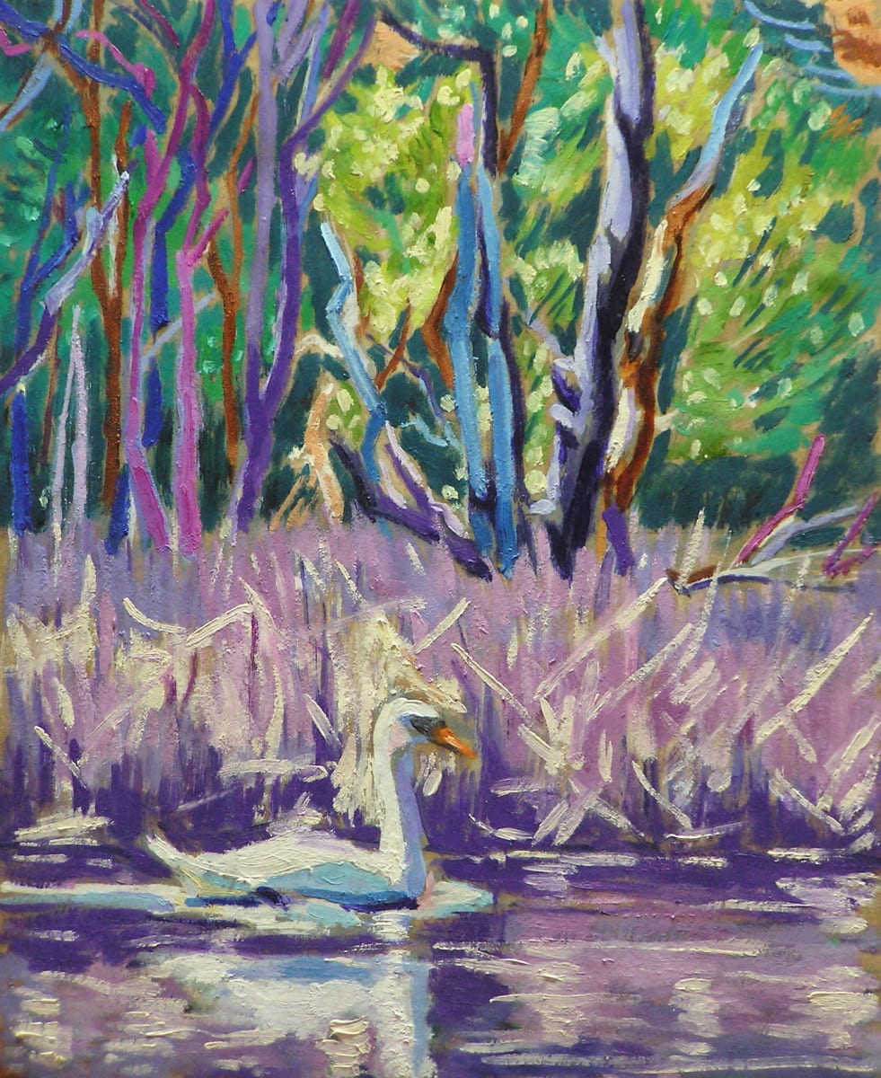 Gliding Swan by Peggy Walters