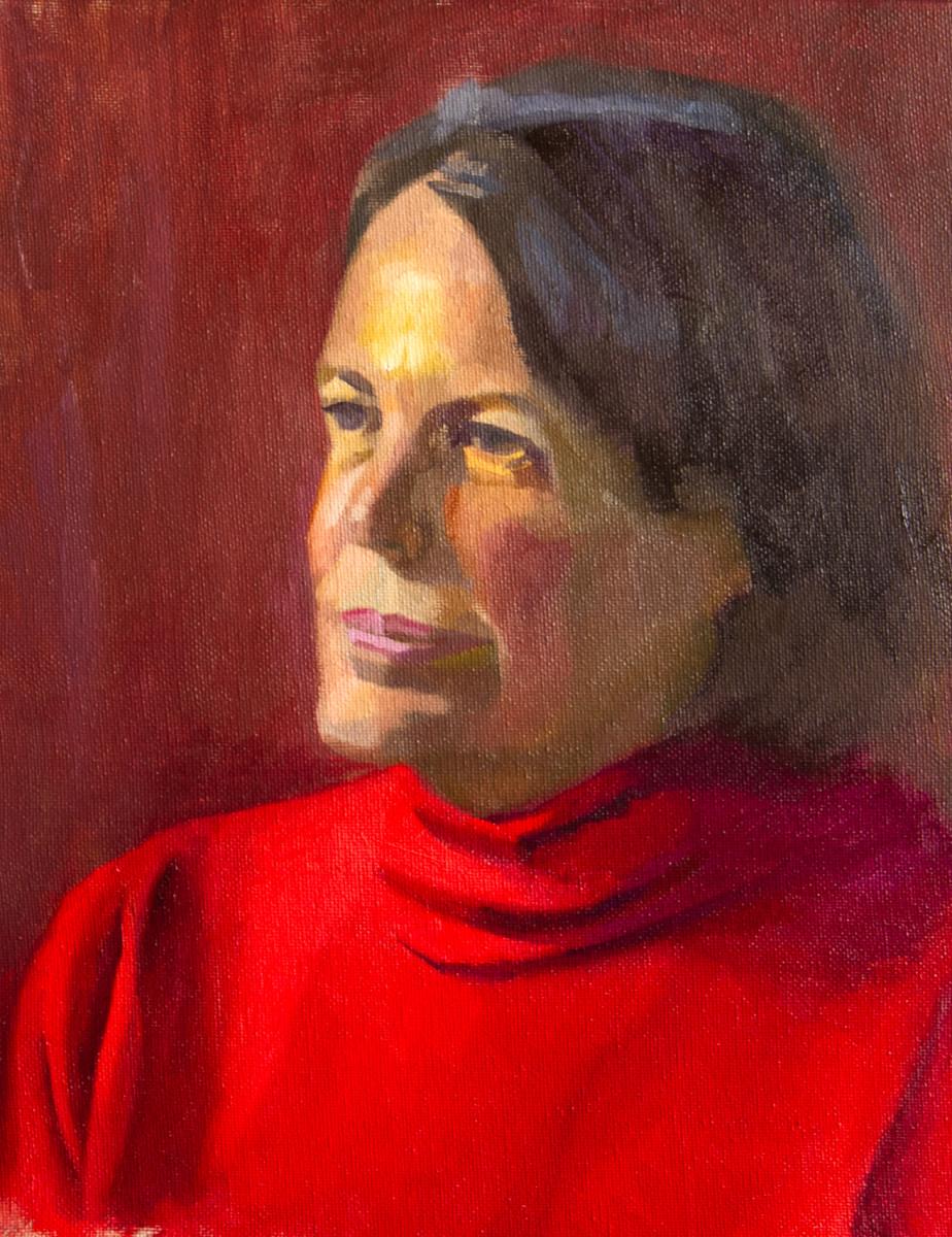 Alla Prima Portrait of Jenny Windsor