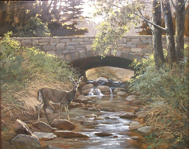 Below the Bridge by Ron Raymer