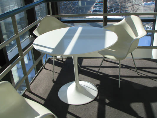 "Tulip Pedestal Table (36"" diameter) 2 of 4"