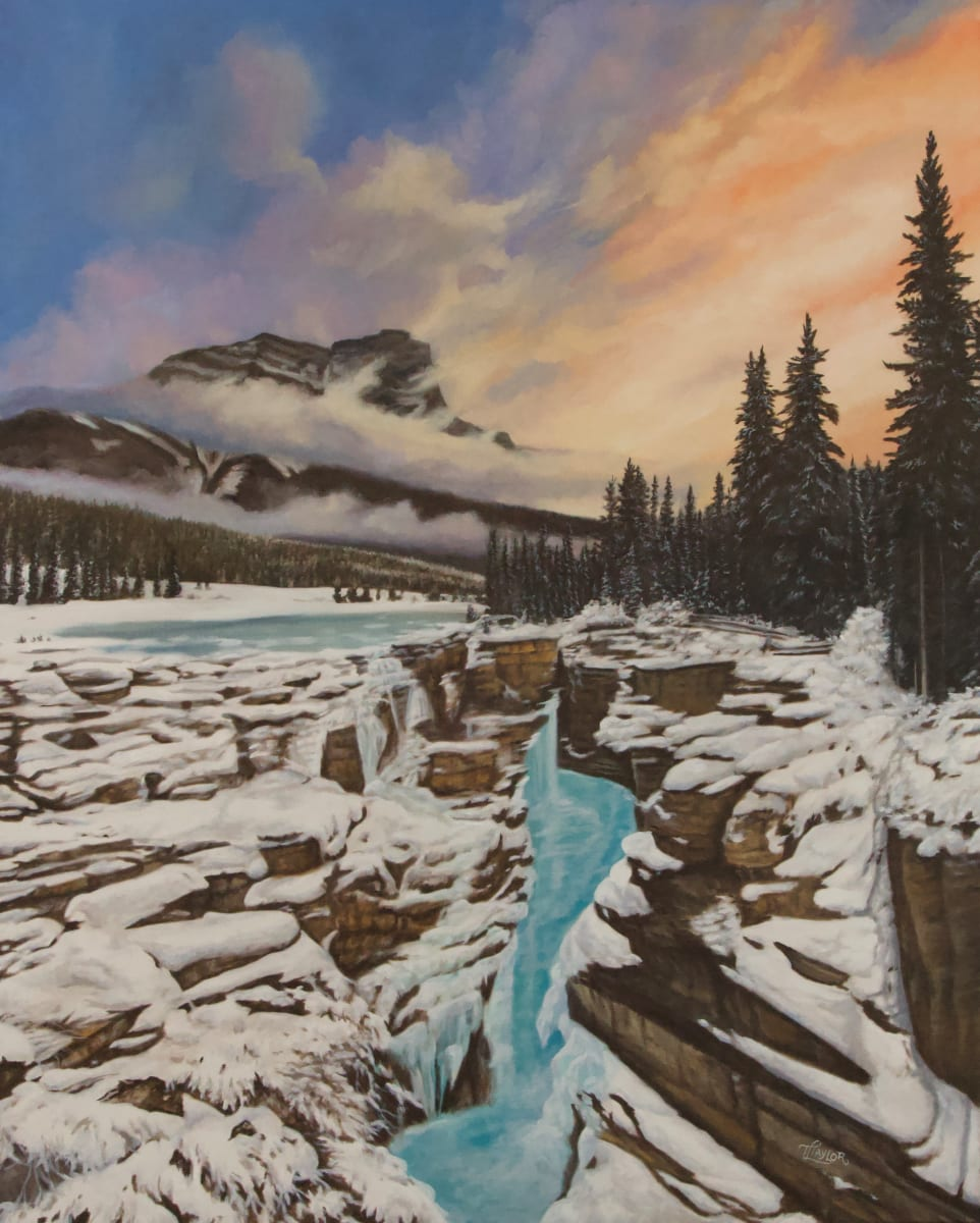 Athabasca Falls Frozen by Tammy Taylor