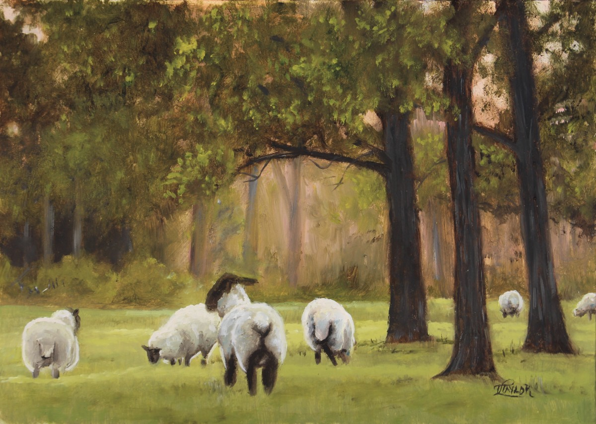 Peaceful Pastures - miniature by Tammy Taylor