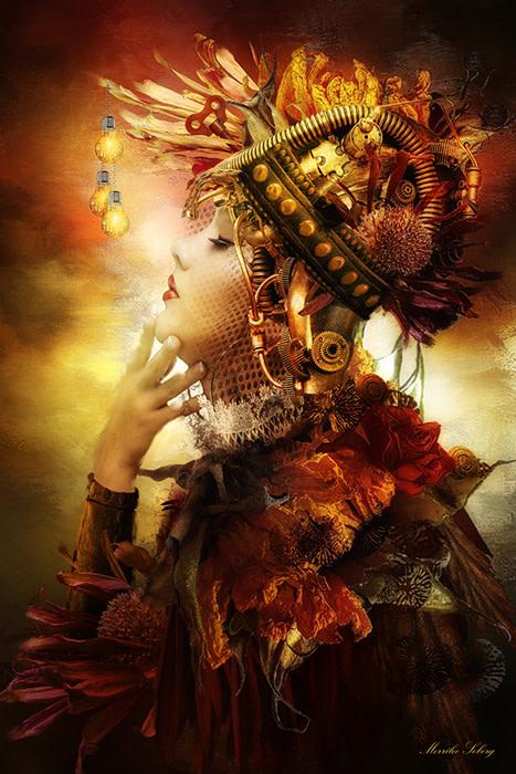 """Merrilee Soberg – """"Illuminated Mind"""" - www.artboja.com/art/p41f0u/ by Merrilee Soberg"""