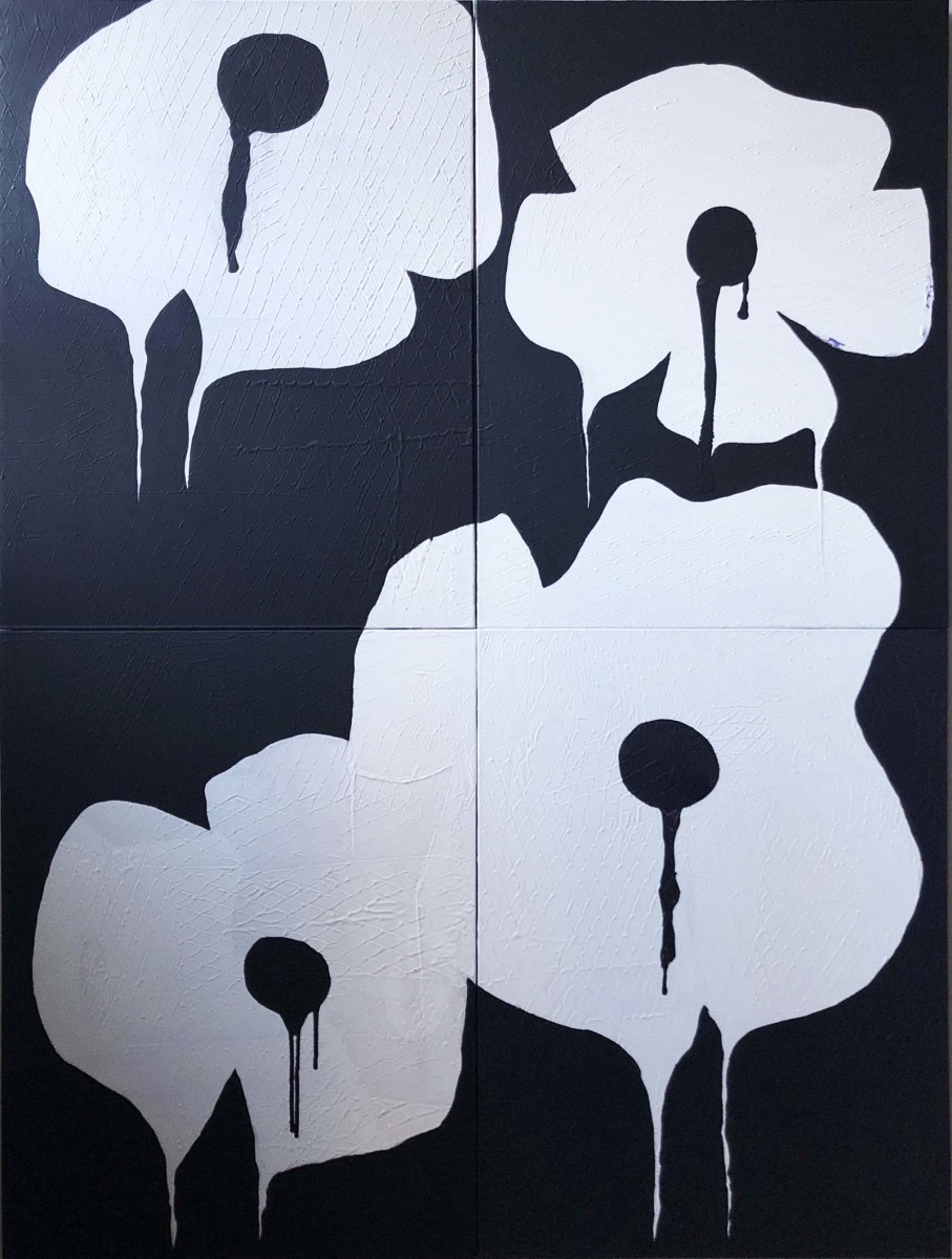 Urban Flora Celandine Poppy BW2 by Tina Psoinos
