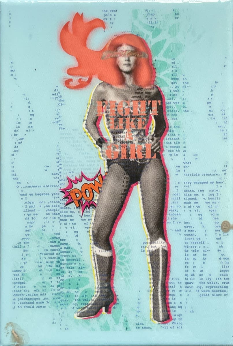Wonder Woman 12x8 by Tina Psoinos  Image: Wonder Woman Coral on Turquoise