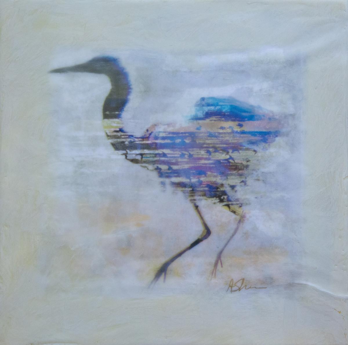 Heron River by Alise Sheehan Art
