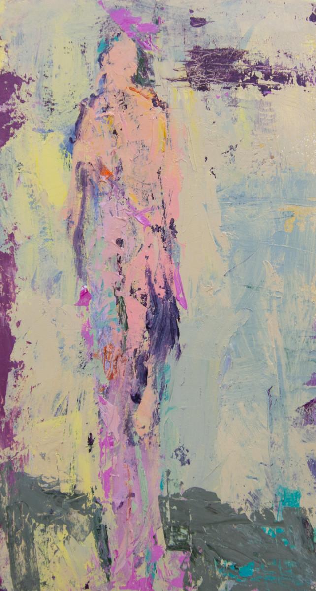 Woman In Pink Hat by Alise Sheehan Art