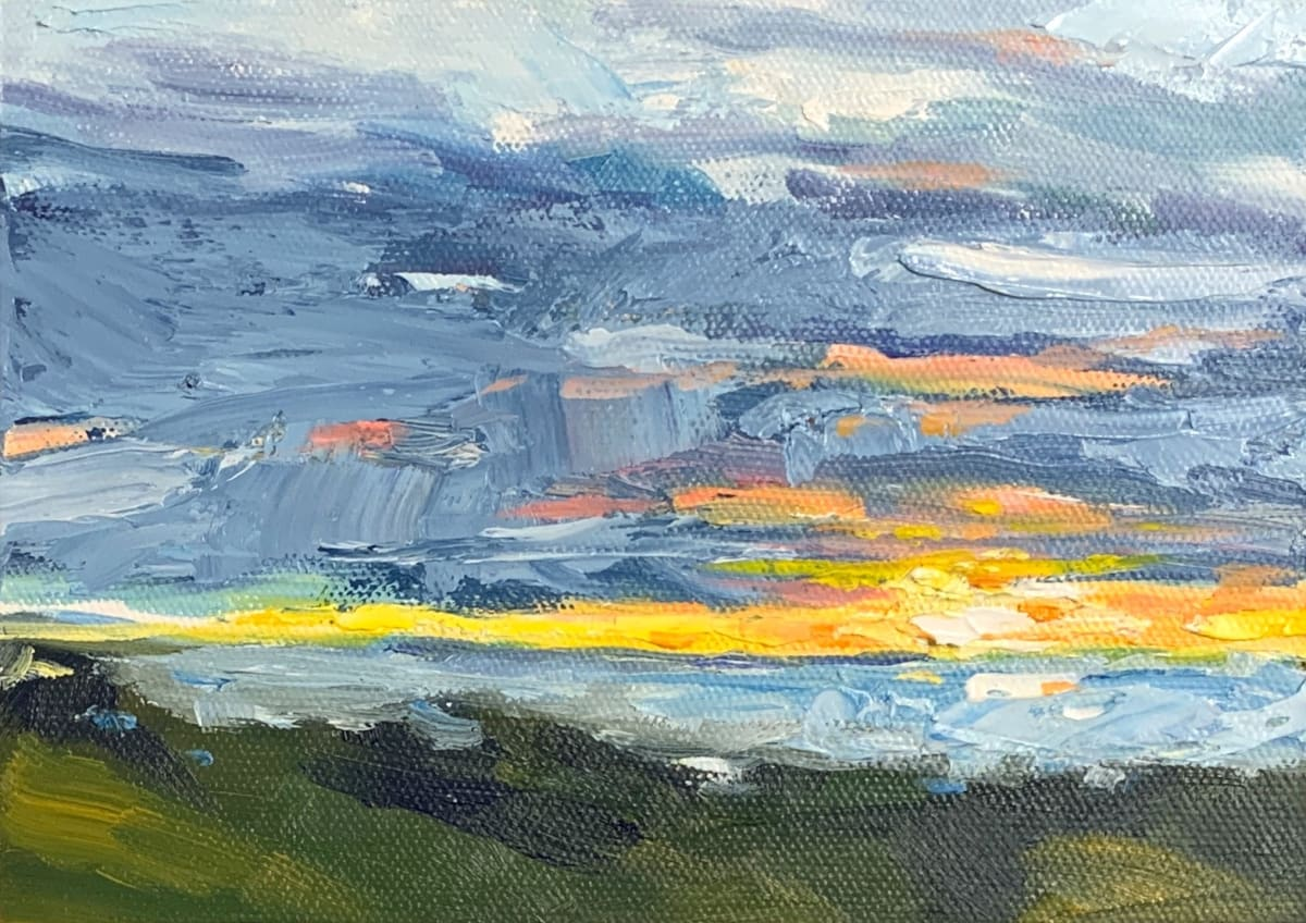 Kathleen's sunset 3 by Marcia Hoeck