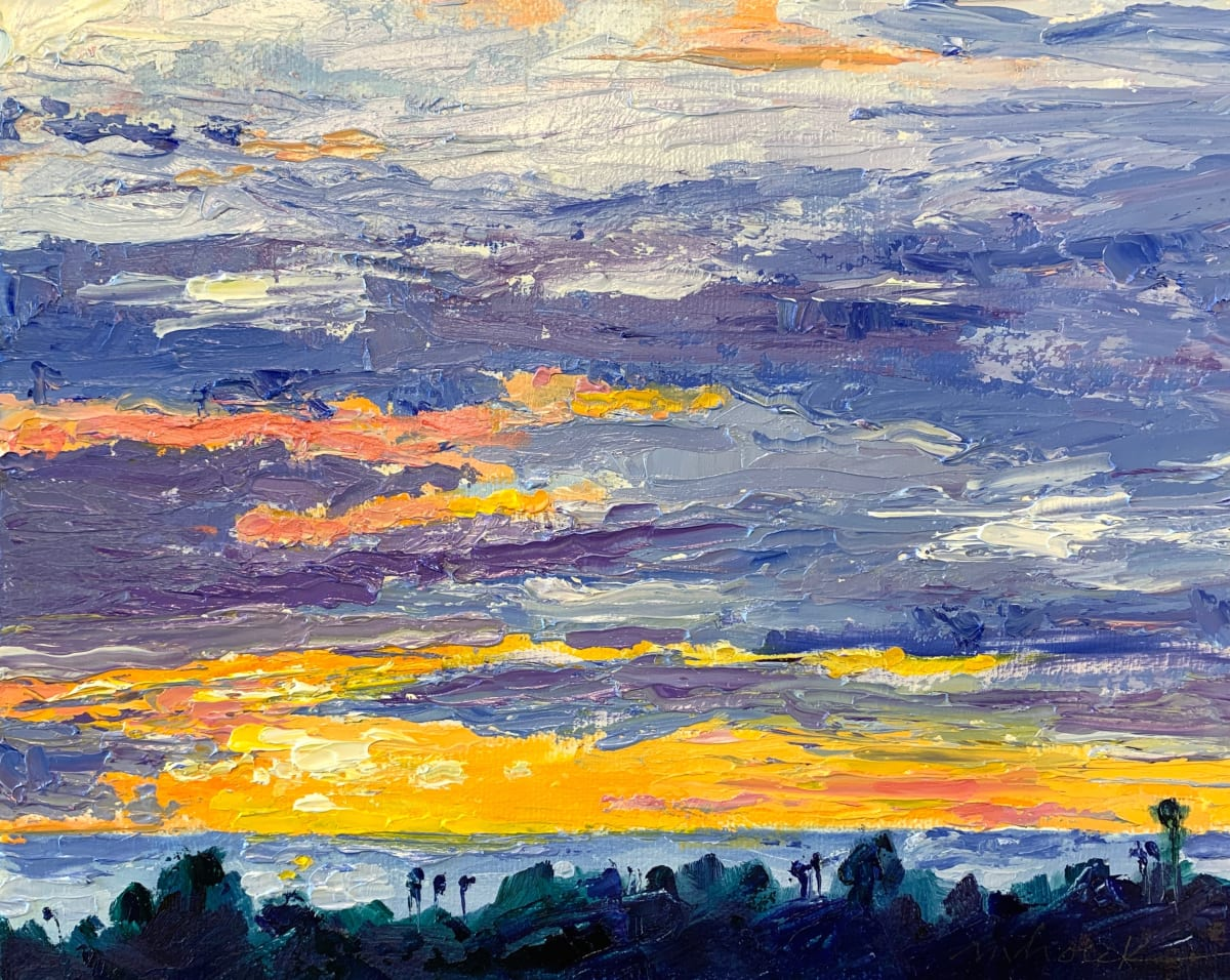 Kathleen's sunset by Marcia Hoeck