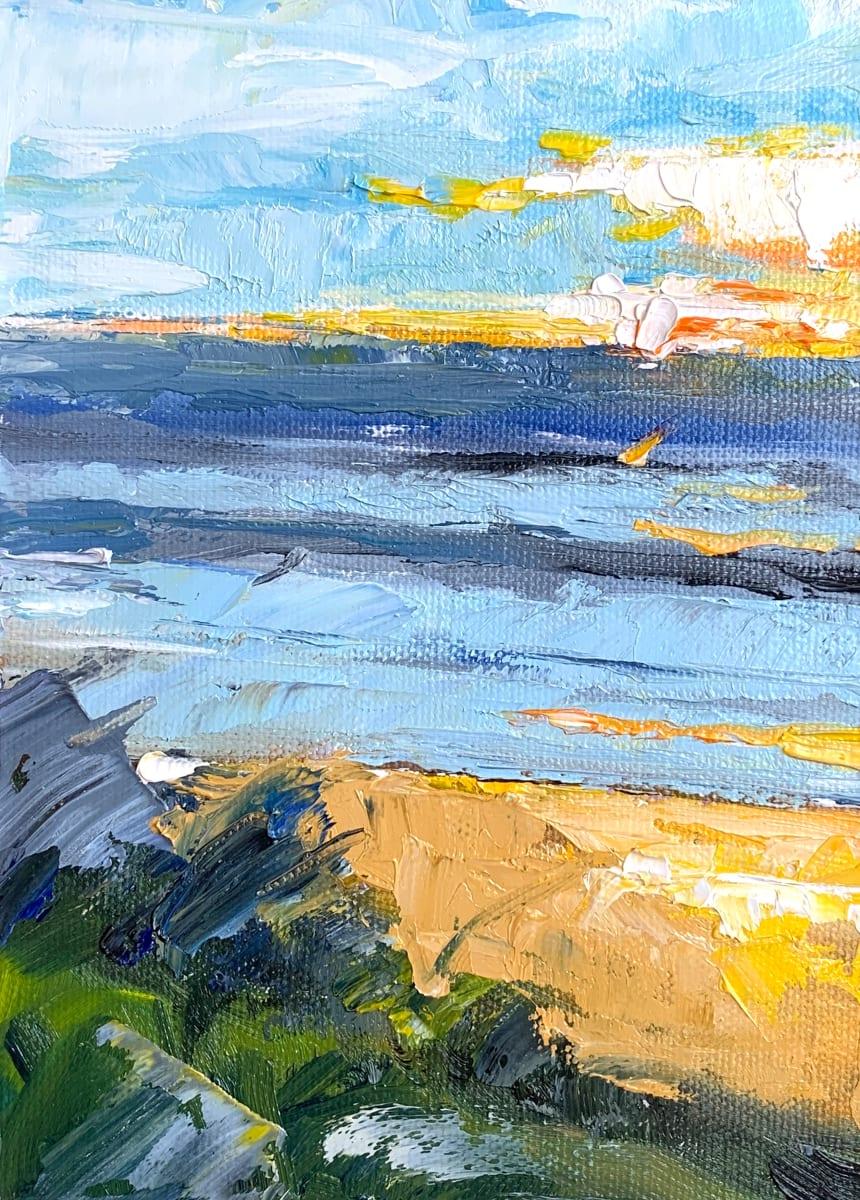 Moonlight beach by Marcia Hoeck
