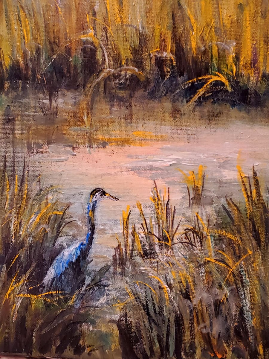 Blue Heron at Shem Creek by Susan Bryant