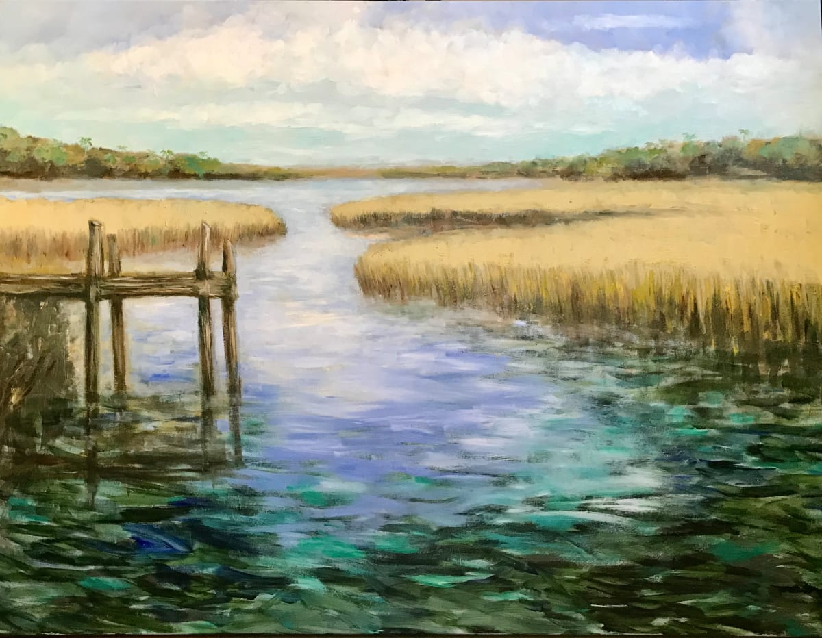 Fishing Dock by Susan Bryant