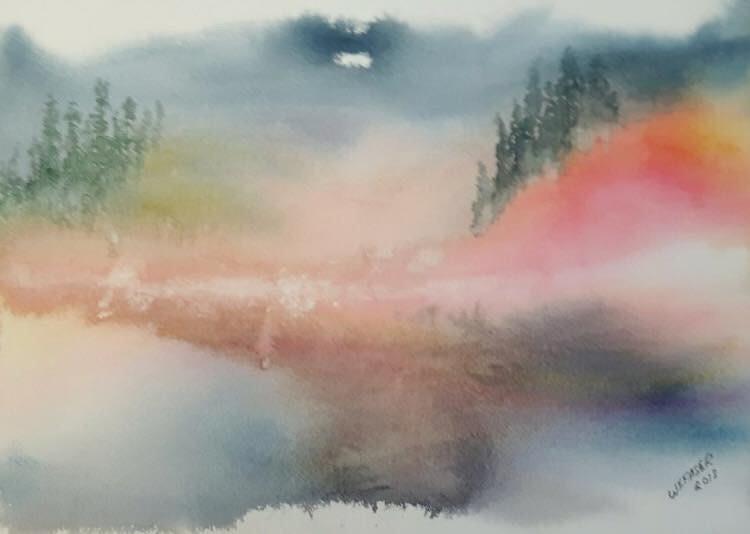 Misty Lake by Wanda Fraser