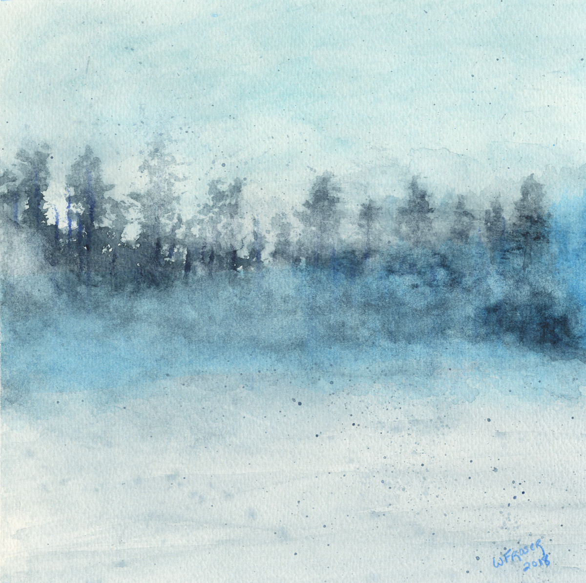 Mist in the Forest - Sold
