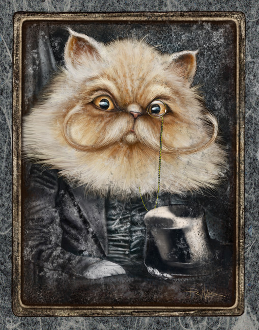 Sophisticated Cat (Unframed print) by Rick  Nass