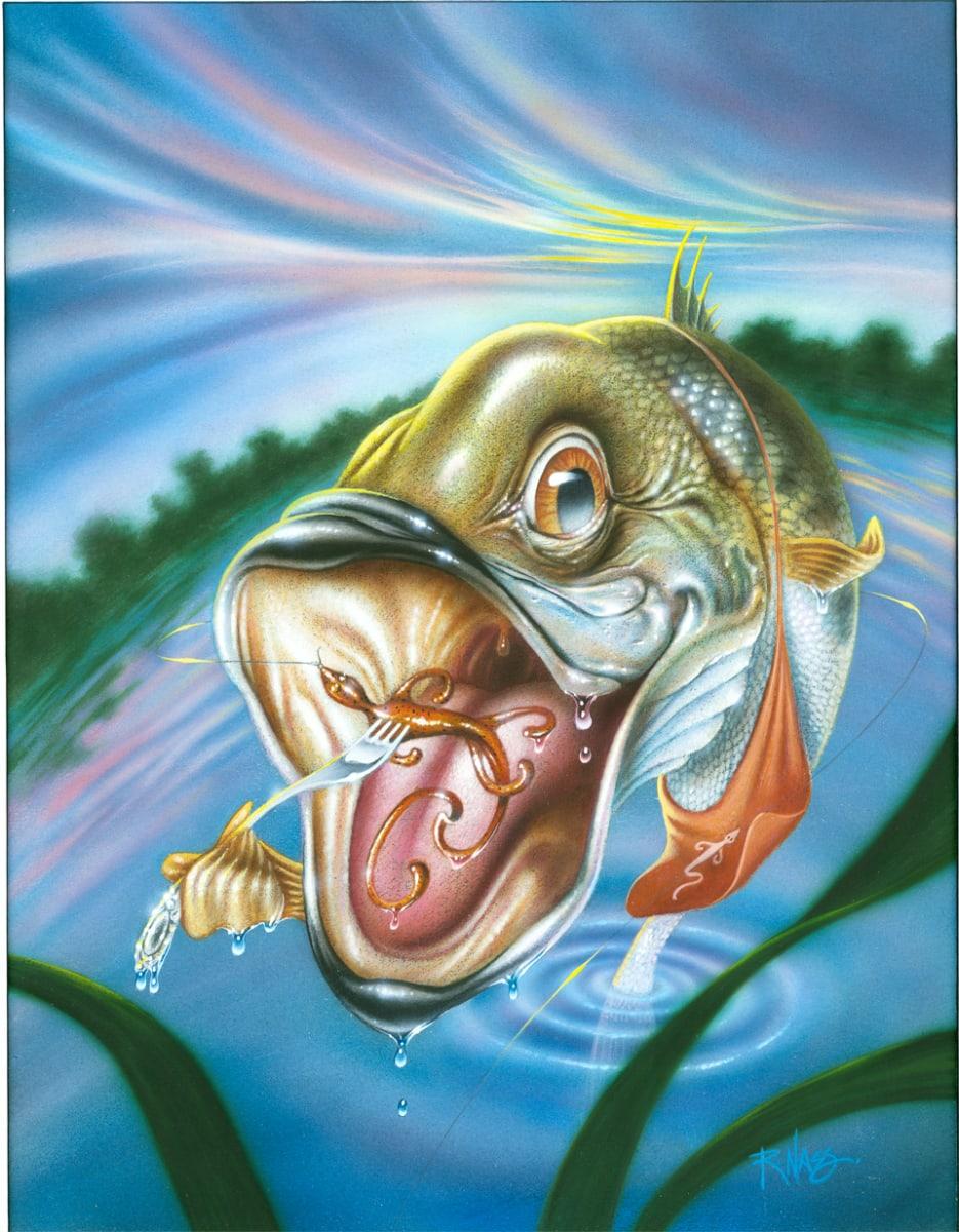 Largemouth Bass (Framed) by Rick  Nass