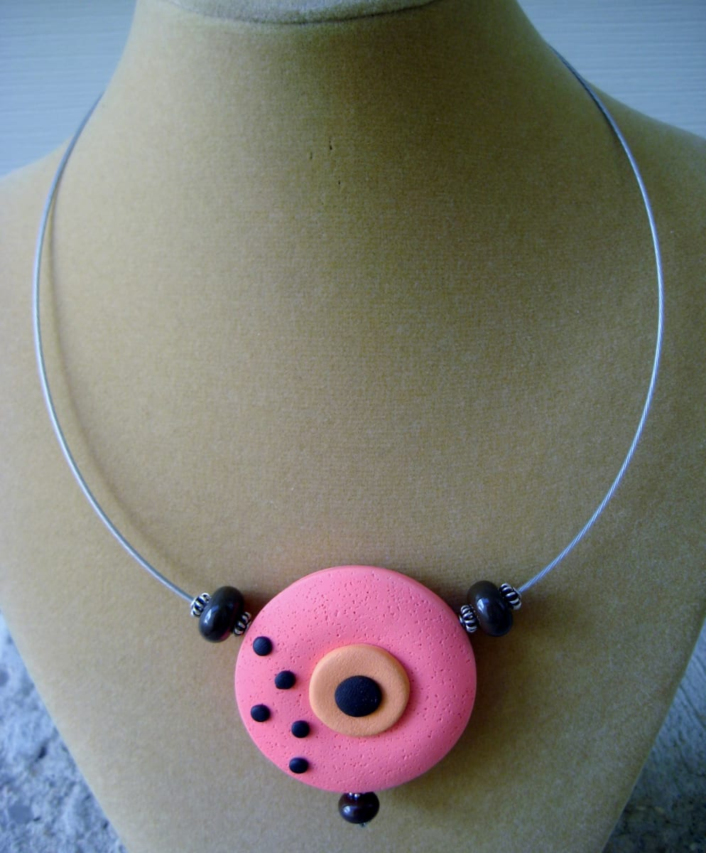 Coral/Orange Necklace by Charmaine Harbort