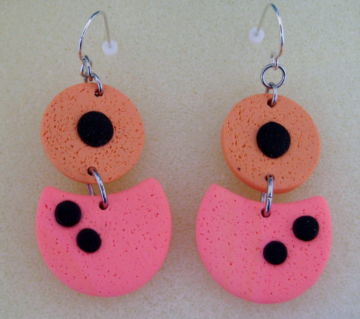 Coral/Orange Earrings by Charmaine Harbort