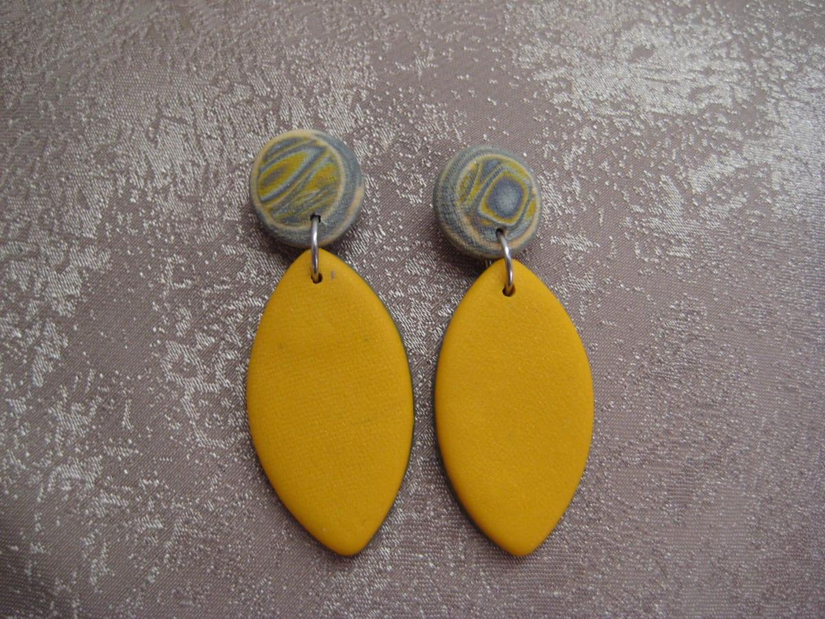 Gold Drop Earrings by Charmaine Harbort