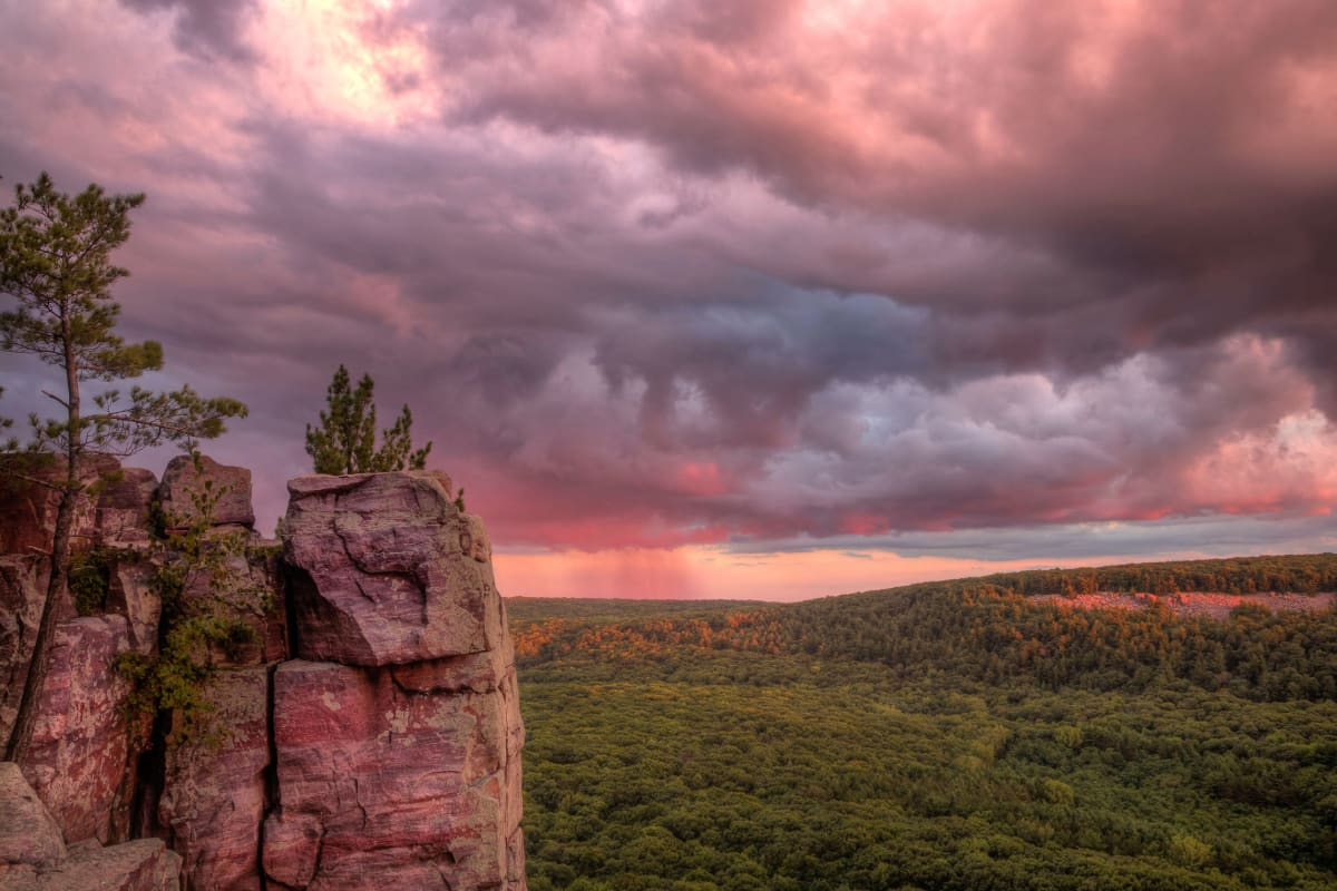 Summer Storm at Devil's Lake (Unframed print) by Mike Murray