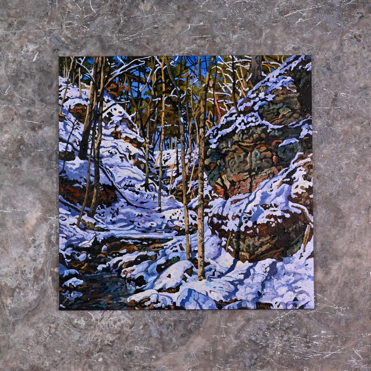 Shadows Up (Original on tile) by Ken Schneider