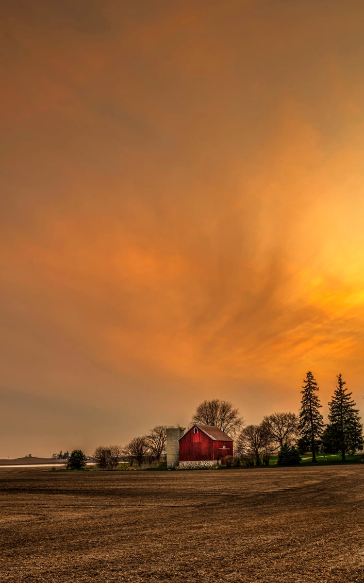 Deforest Barn (Unframed print) by Mike Murray
