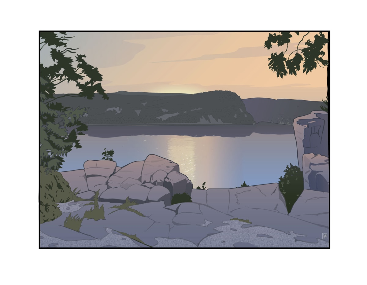 Devil's Lake Sunrise (Unframed print) by John Miller