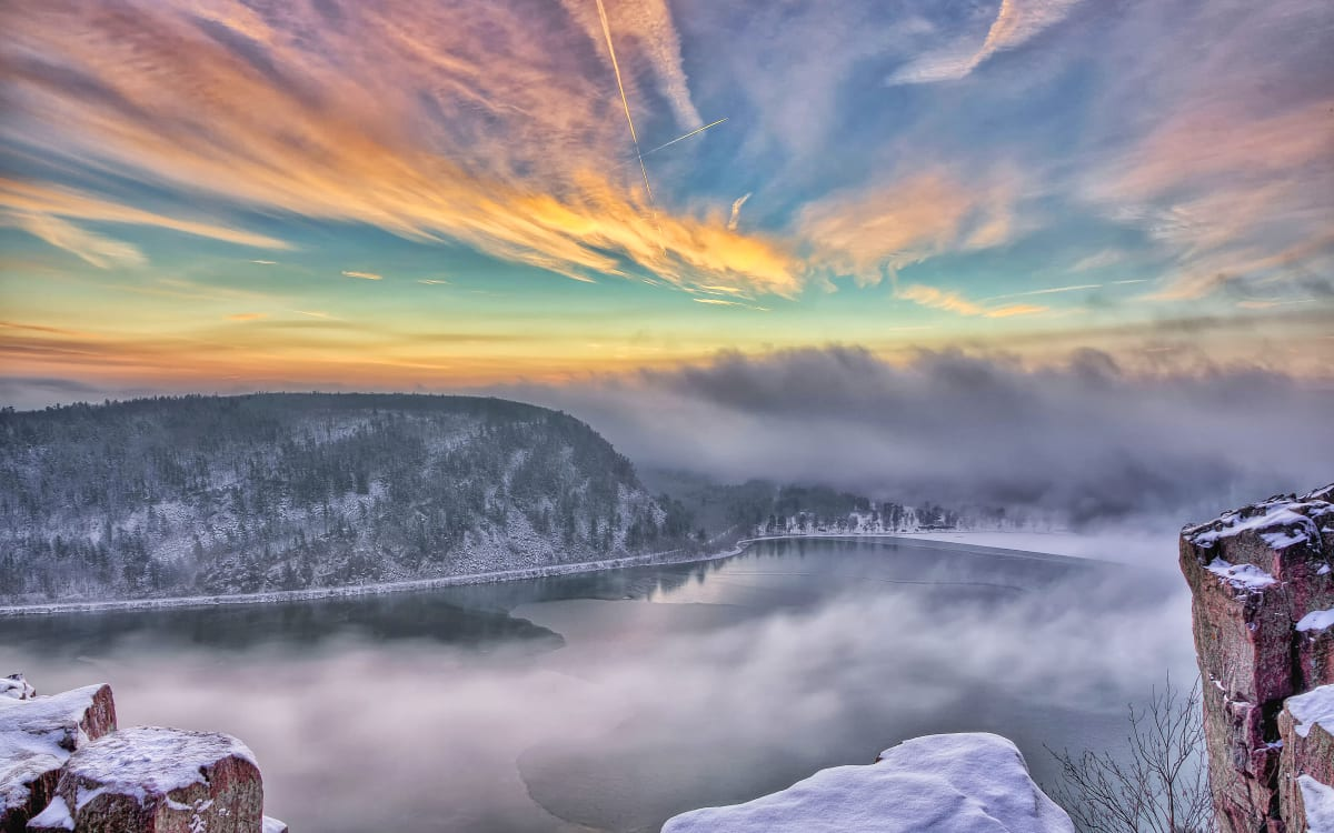 Devil's Lake Winter (unframed print)