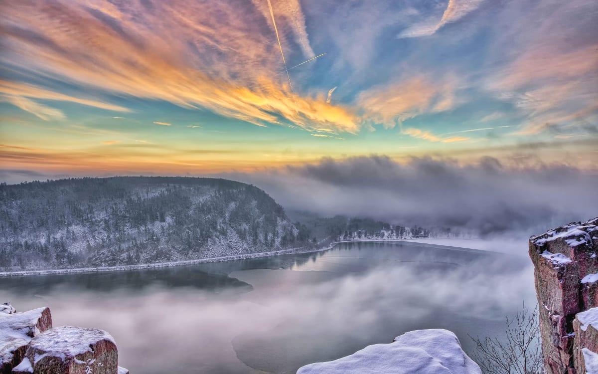 Devil's Lake Winter (unframed print) by Mike Murray