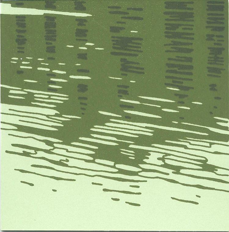 Gentle Breeze (Framed Screen Print) by John Miller