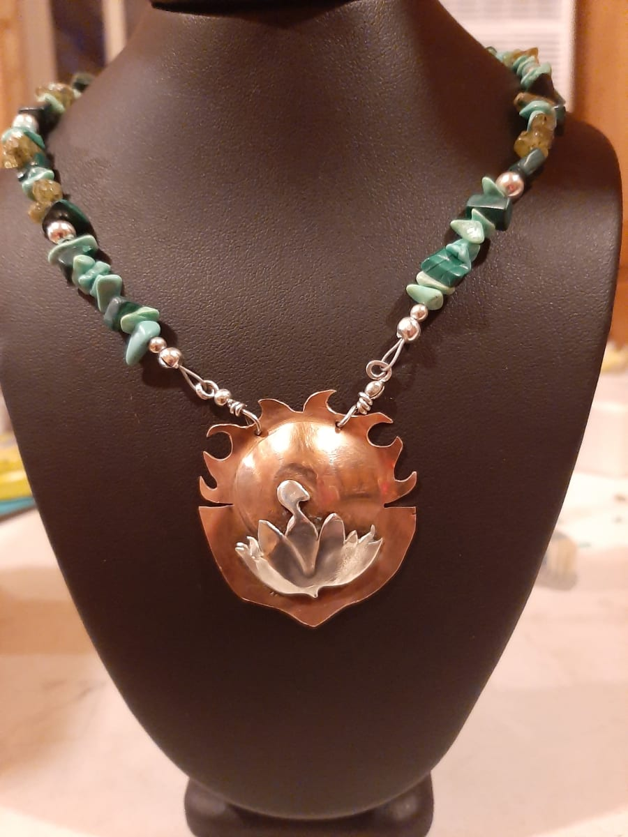Hatching Cranes Necklace by Georgia Weithe