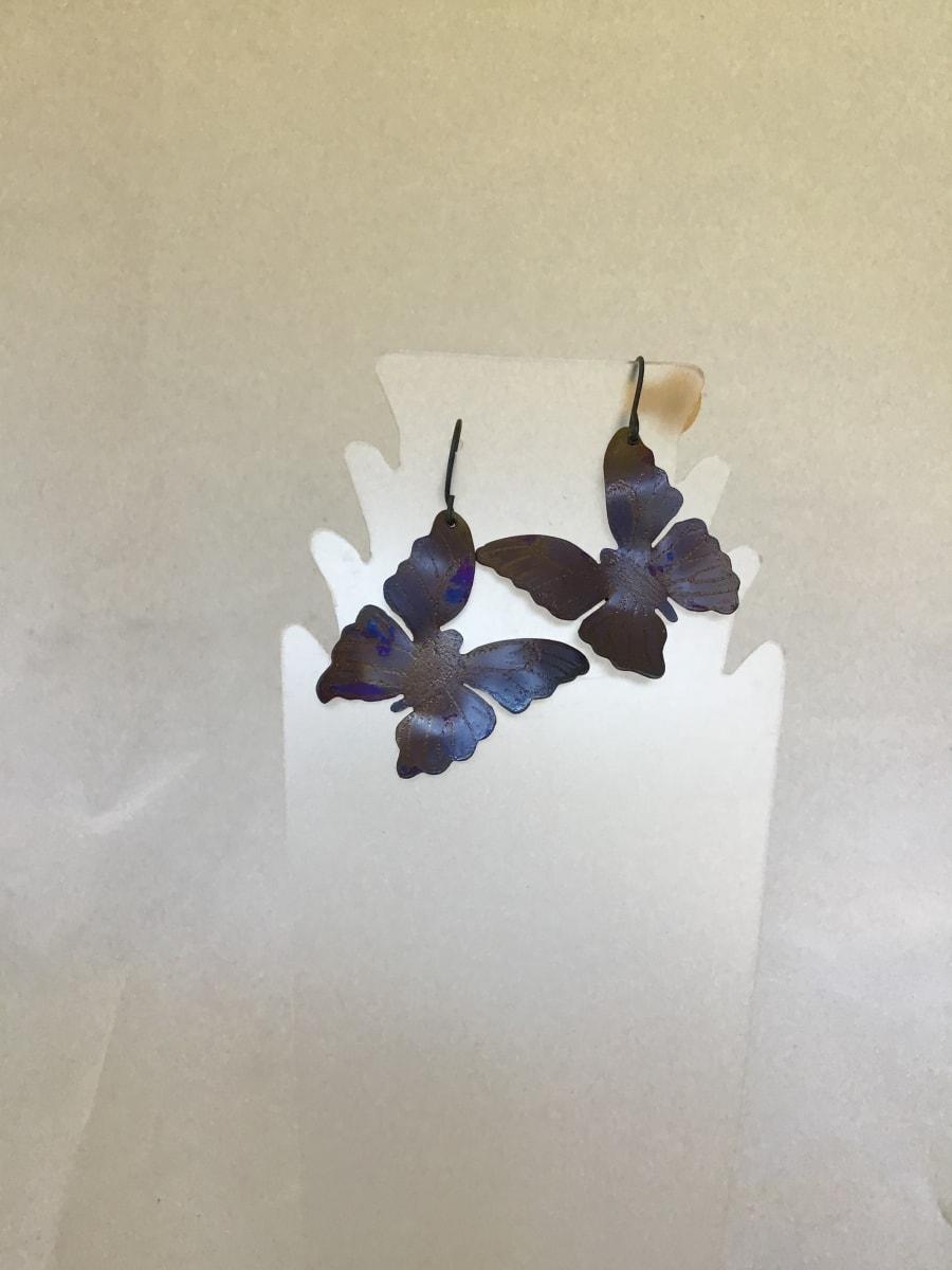 Butterfly Earrings 2 by Judi Werner