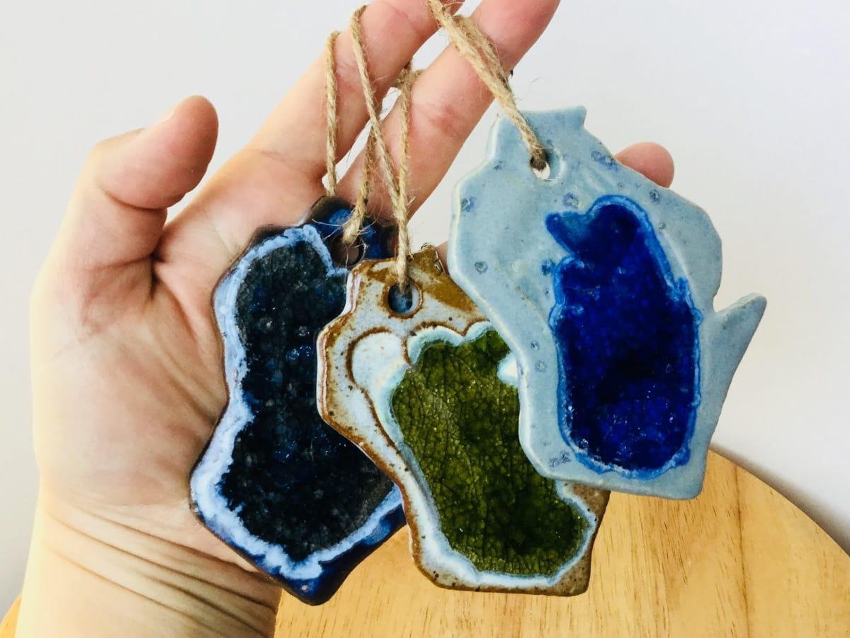 Wisco Ornaments by Amber Gavin