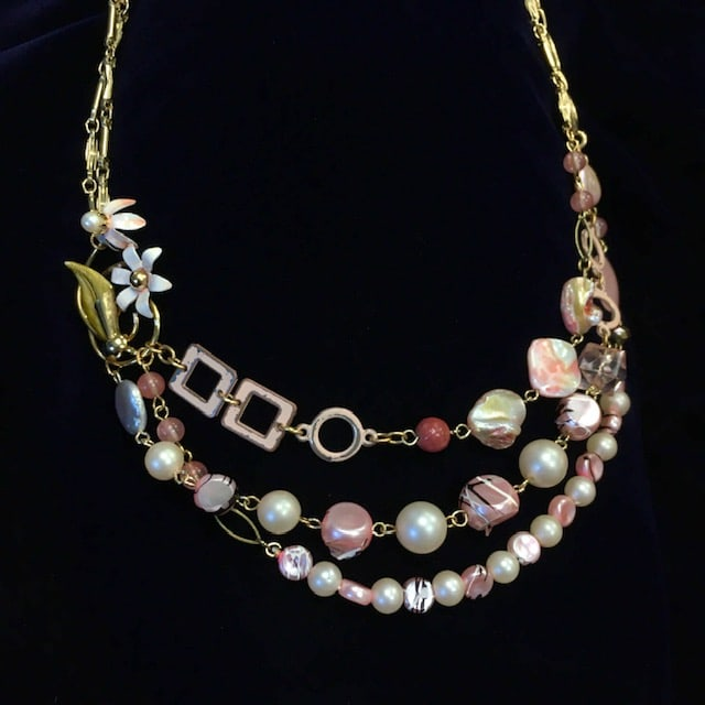 Pinks Necklace by Luann Roberts Smith