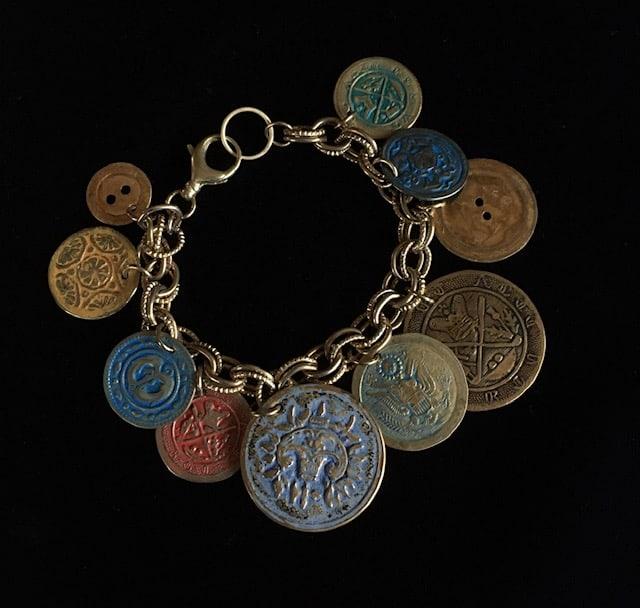 Smashed Button Bracelet by Luann Roberts Smith