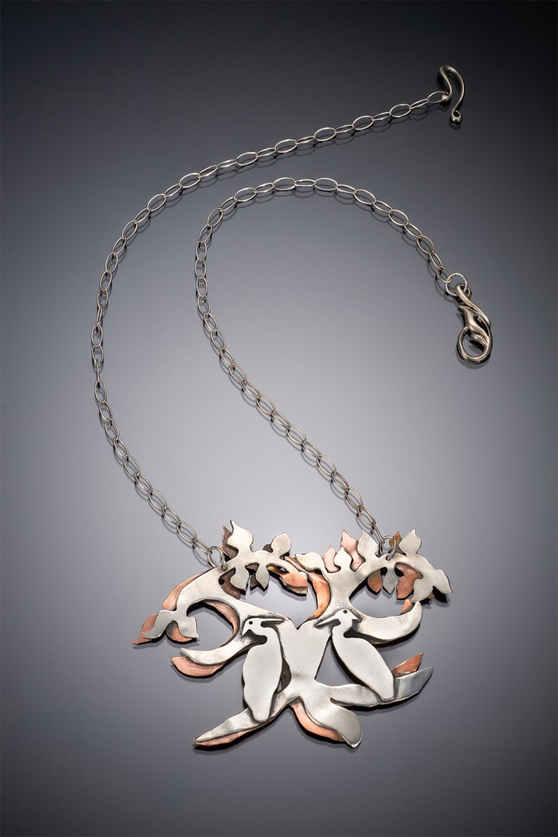 Resting Cranes Necklace by Georgia Weithe