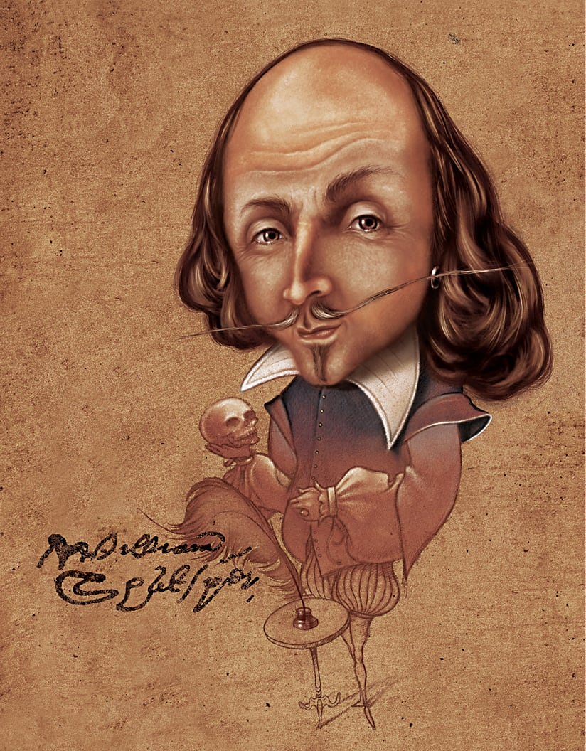 William Shakespeare (Framed) by Rick  Nass