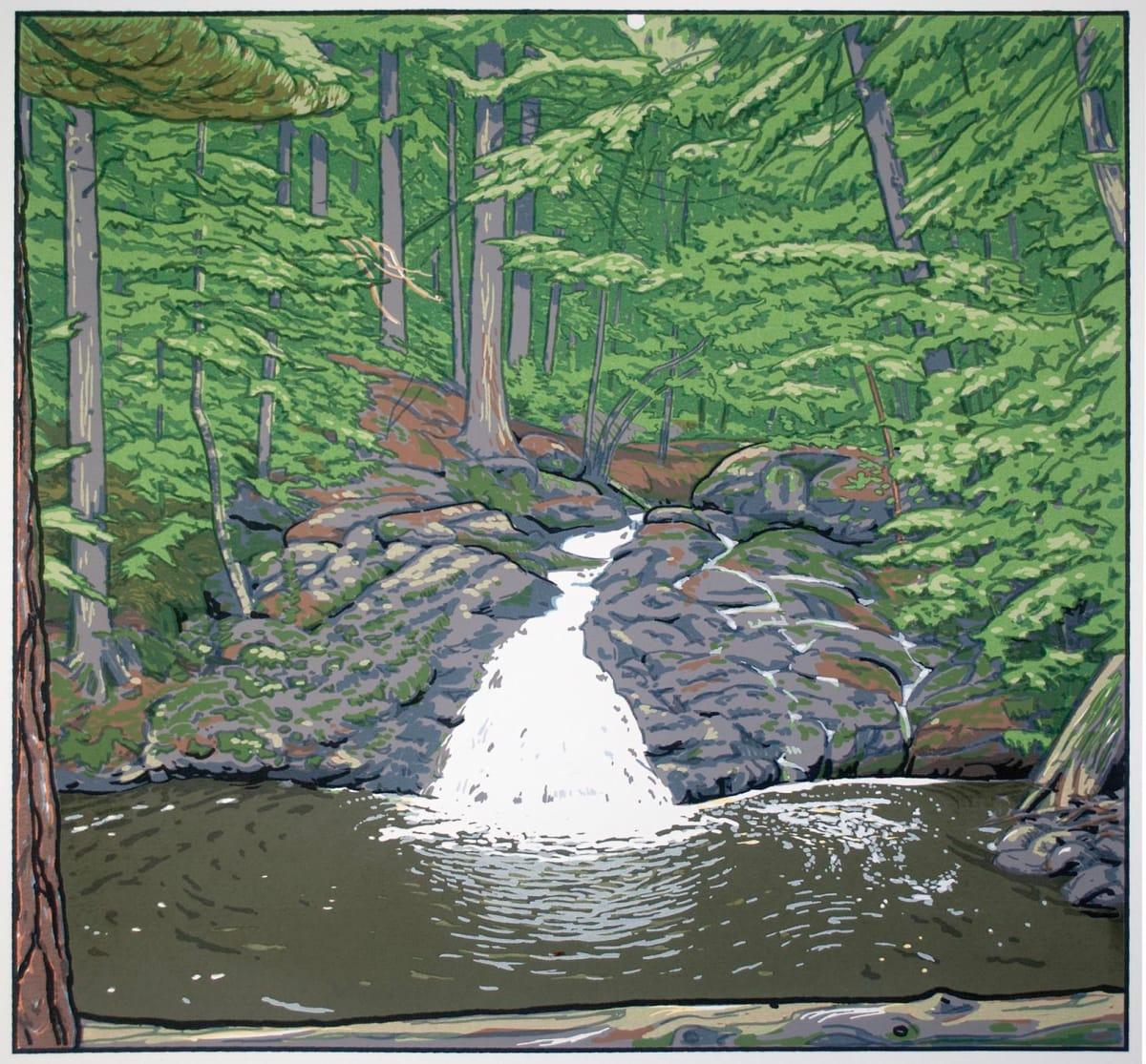 Trap Falls (Framed screen print) by John Miller