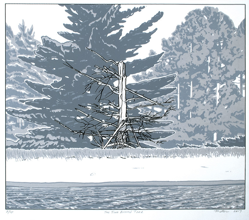 The Turn Around Tree (Unframed Screen Print) by John Miller
