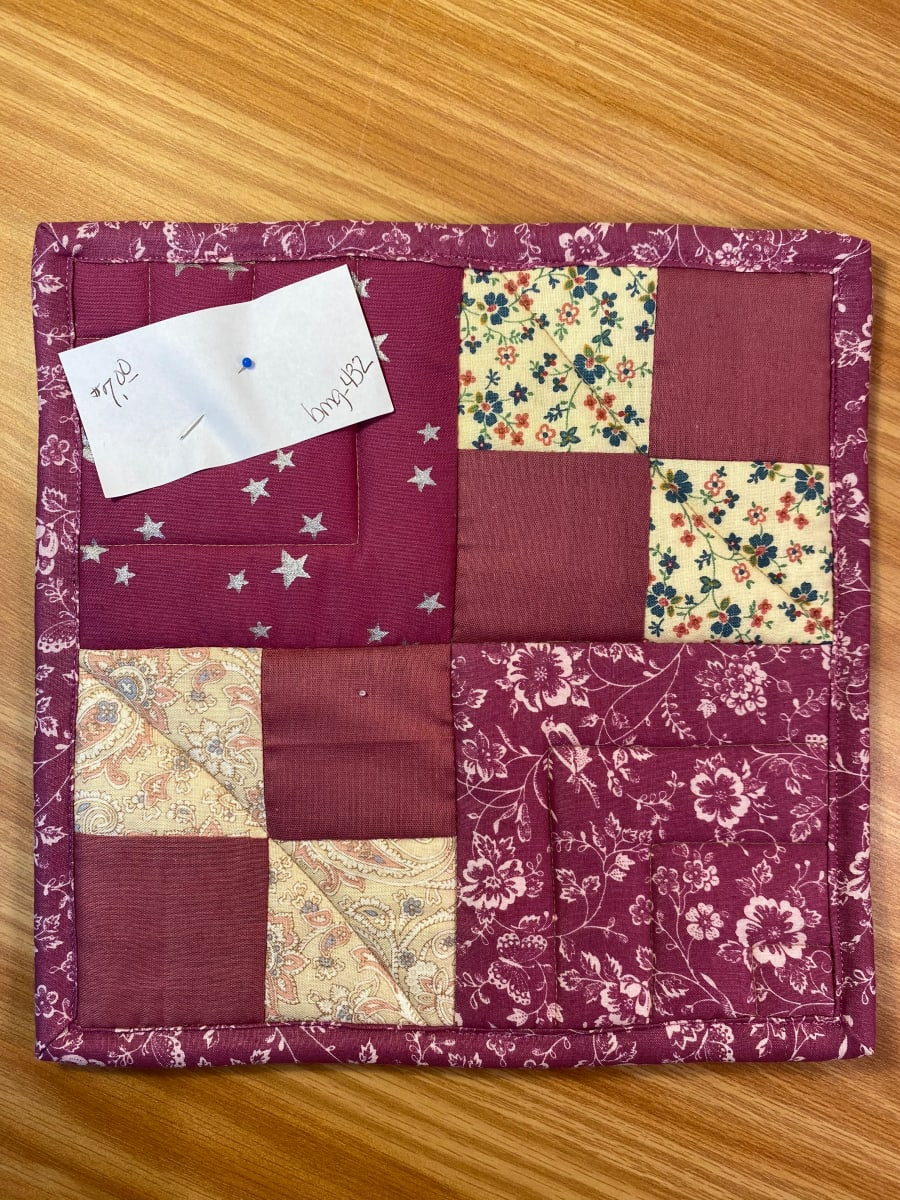 4 Patch Pot Holder by Betty Gruber
