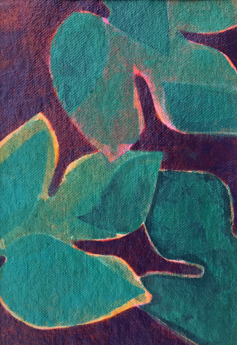 Foliage Study 3 (Unframed, matted original) by Brit Borcher