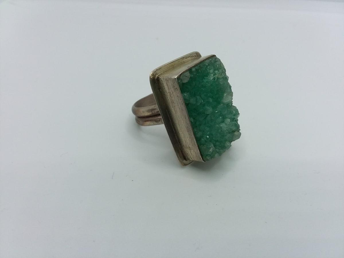 Green Druzy Ring by Judi Werner